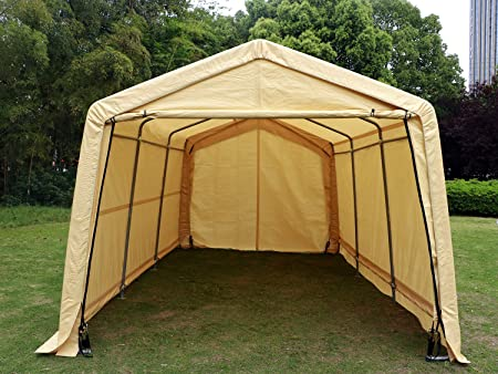 Amazon.com: Bestmart INC 10x15ft Heavy Duty Beige Carport Portable .