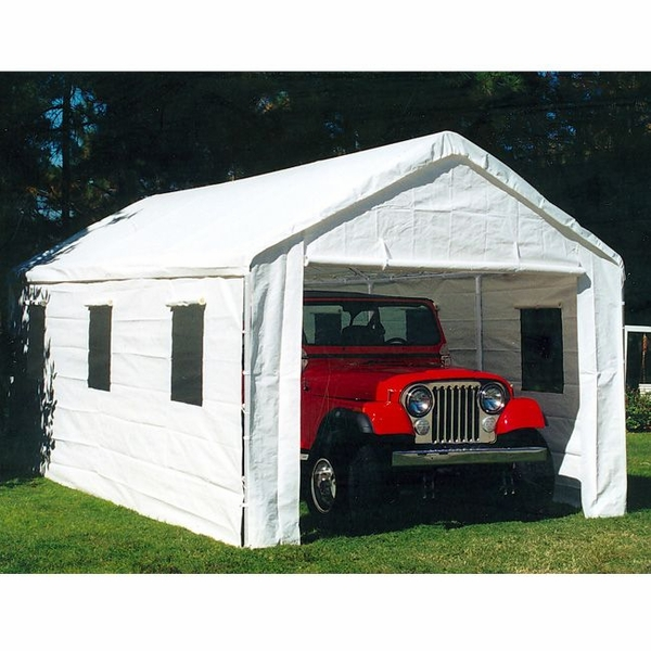 10 X 20 Universal Portable Garage Canopy with Enclosure Wal