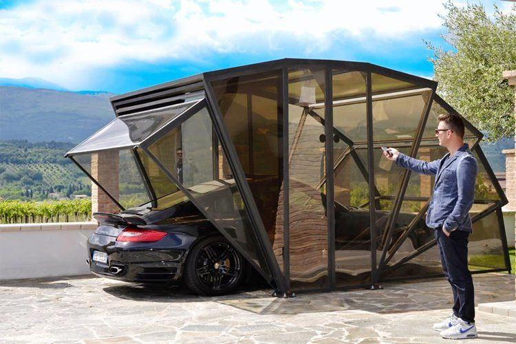 Automated Carports : Portable Gara