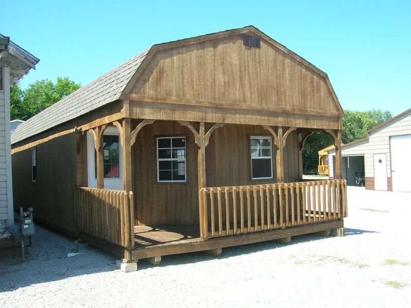 16X40 LOFTED BARN CABIN | Garages, Barns, Portable Storage .