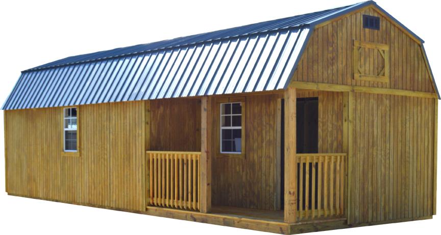 Premier Side Lofted Barn Cabin Storage Building | Lofted barn .