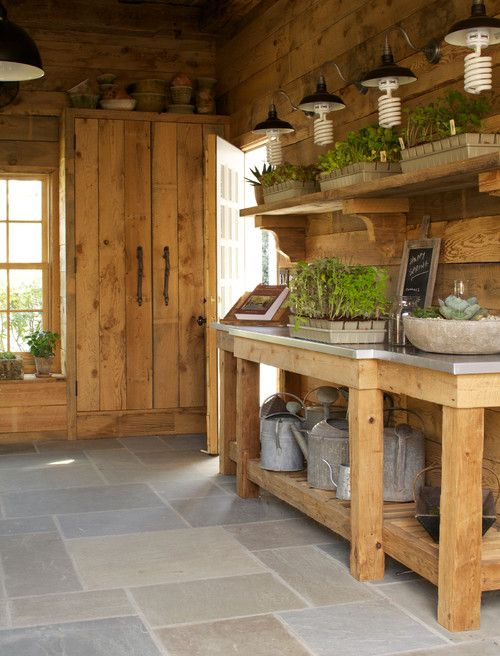 She Shed or Potting Shed | Garden shed interiors, Shed interior .