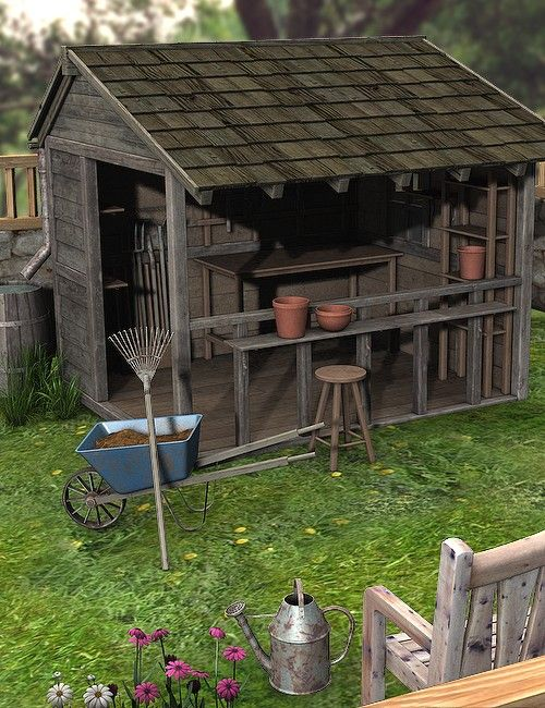 Open Air Potting Shed....something like this. | Potting shed .