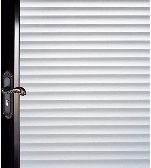 Amazon.com: DUOFIRE Window Film Blinds Pattern Privacy Window Film .