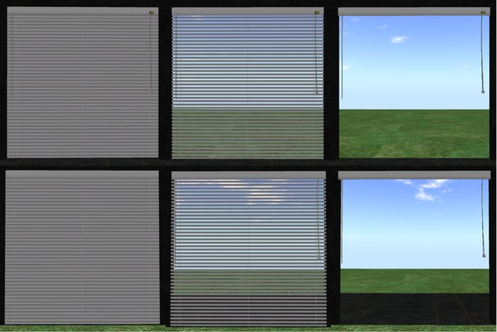 Second Life Marketplace - Blinds 3 positions privacy for linden .