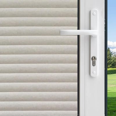 GILA Decorative 36-in W x 6-1/2-ft L Frosted Faux Blinds Privacy .