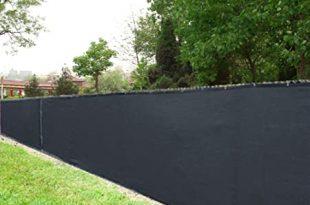 Amazon.com : 8' X 50' Black Knitted Polyethylene Privacy Fence .