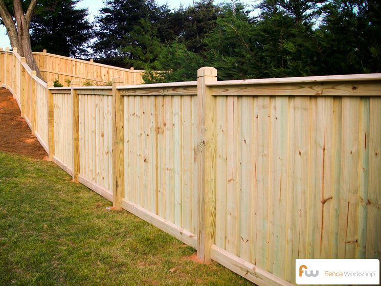 Custom board on board fence. | Privacy fence designs, Fence decor .