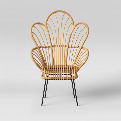 Avocet Rattan Fan Back Accent Chair - Opalhouse™ : Targ