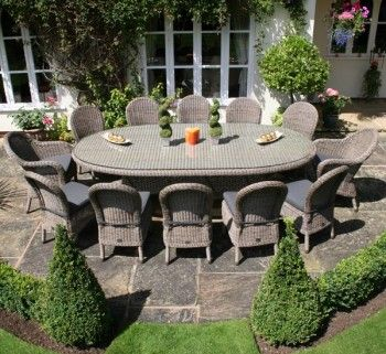 12 seater luxury Rattan garden furniture set - ideal for parties .