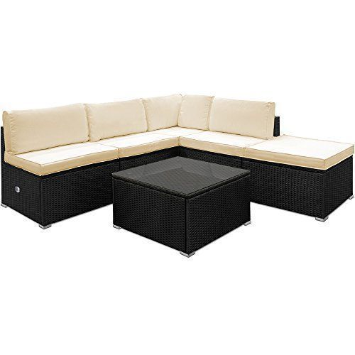 Poly Rattan Garden Sofa Set Corner Furniture Black Outdoor Patio .