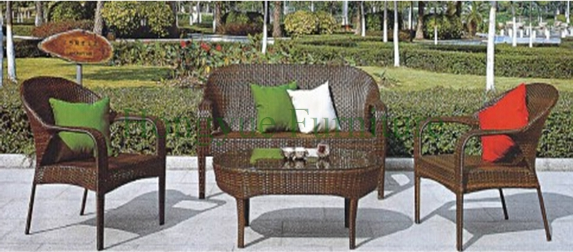Cane furniture PE rattan garden sofa set furniture supplier|cane .