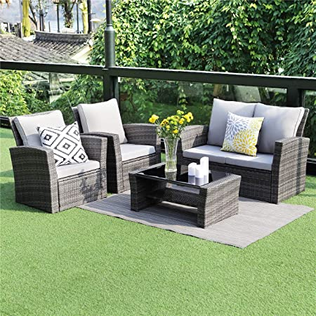 Amazon.com: Wisteria Lane 5 Piece Outdoor Patio Furniture Sets .