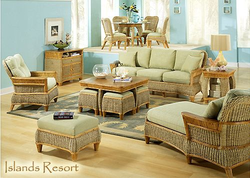 Rattan and Wicker Living Room Furniture Sets | Living Room Chairs .