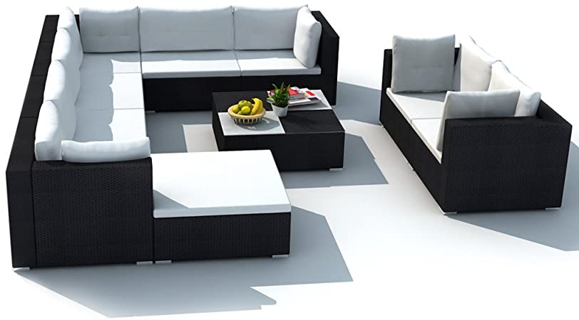 Amazon.com: Festnight 10 Piece Patio Rattan Sofa Set Garden .