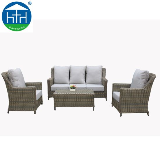 China American Design Garden Furniture Sets Big Size PE Rattan .