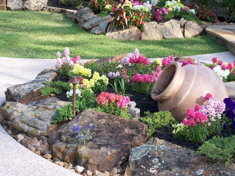 72+ Beauty Front Yard Rock Garden Landscaping Ideas   Rock garden .