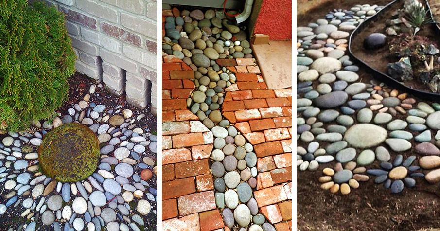 25 River Rock Garden Ideas for Beautiful DIY Desig