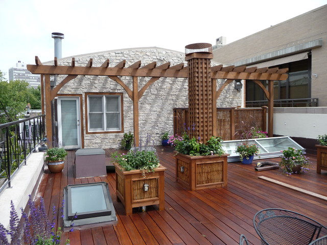 Chicago Roof Decks & Landscaping - Traditional - Terrace - Chicago .