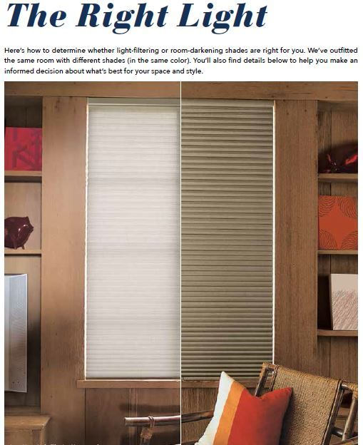 Do you know the difference between Light Filtering and Room .