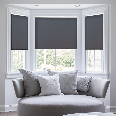 Deluxe Room Darkening Fabric Roller Shades | Blindster.c