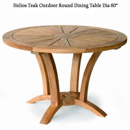 5 feet Teak Heavy built Round Outdoor Table – Helios – Teak Patio .