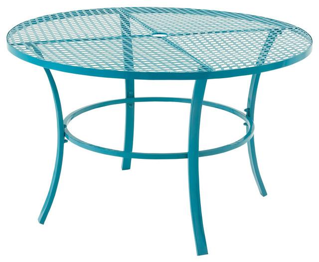 Benzara Beautiful Metal Round Outdoor Table - Contemporary .