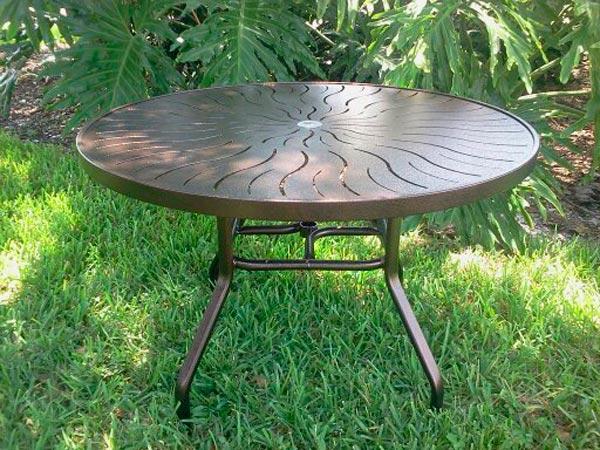 48 inch Round Aluminum Patio Table – R-48P   Florida Patio .
