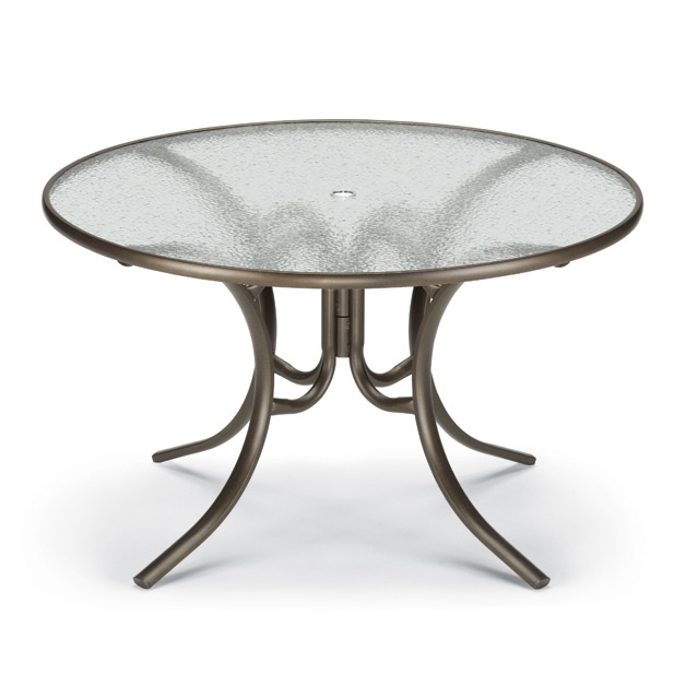 48 Inch Round Glass Top Patio Dining Table by Telescope Casu