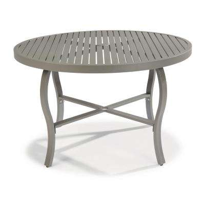 Round - Weather resistant - Gray - Patio Dining Tables - Patio .