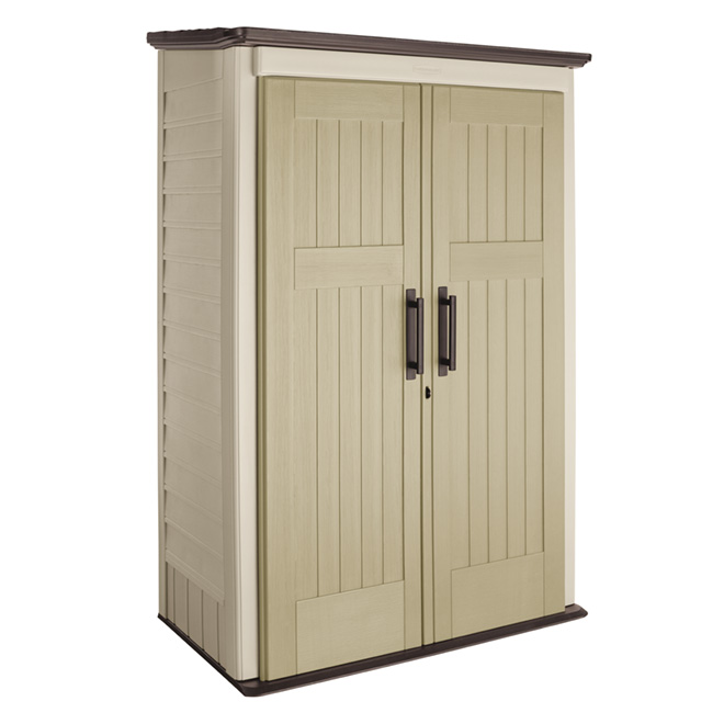 Rubbermaid - 4' X 2' Vertical Garden Shed 1887157 - Rona   Plastic .