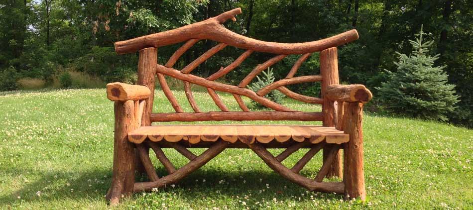 Outdoor Rustic Garden Furniture & Woodland Structures | Custom .