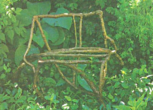 Rustic Garden Chair; a romantic & intriguing seat for your gard