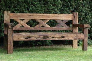 Rustic Garden Bench: Reclaimed Teak Rustic Bench | Rustic outdoor .