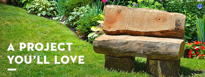 Rustic Garden Bench | DIY Garden Benches | STIHL U