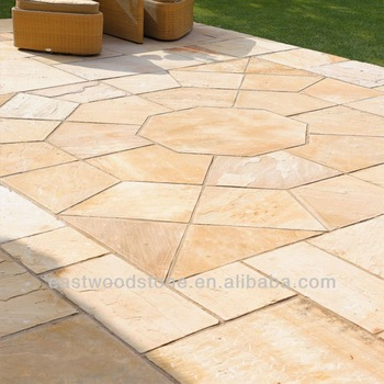 Fossil Buff Sandstone Paving Tiles For Garden - Buy Fossil Tiles .