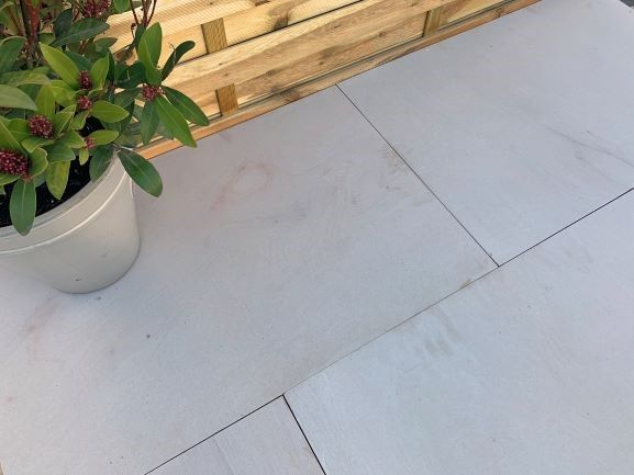 Indian sandstone with luxurious leather finish | Sandstone paving .