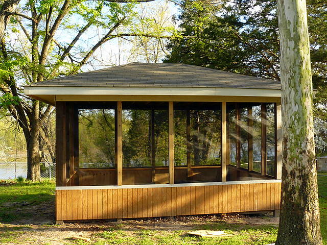 Screened Gazebo | I just finished getting the screen up on t… | Flic