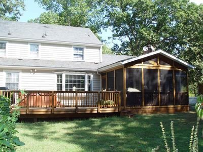 Really like this screened porch deck combination. It would look .