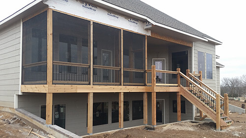 Screened Deck Construction Services in Wichita, KS | Custom Built .