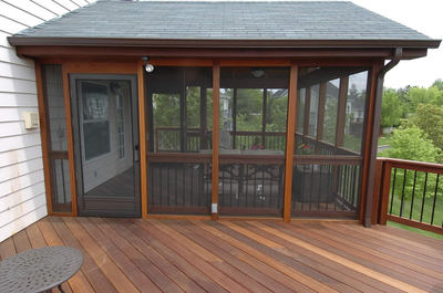 under deck screened room | St. Louis decks, screened porches .