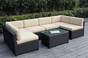 Amazon.com: Ohana Mezzo 7-Piece Outdoor Wicker Patio Furniture .