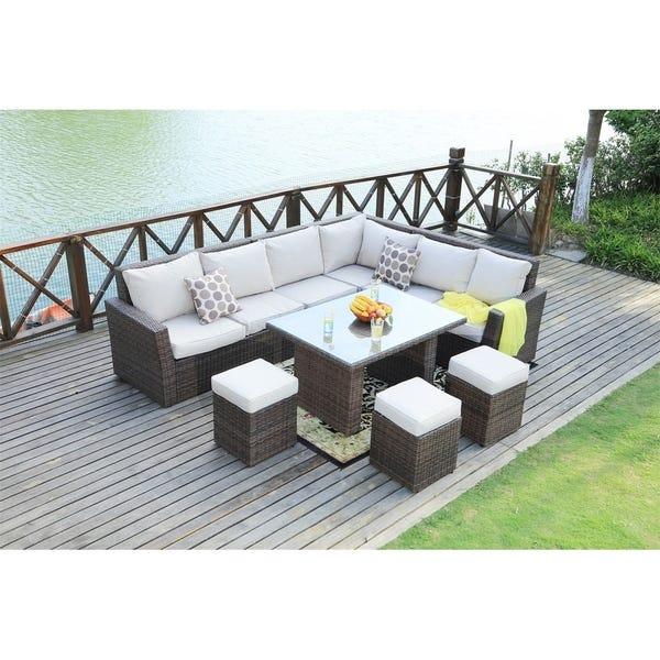 Shop 8-Piece Outdoor Sectional Sofa Set Patio Furniture by Moda .
