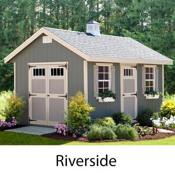 EZ-Fit Sheds Riverside Outdoor Garden Shed Storage Solution .