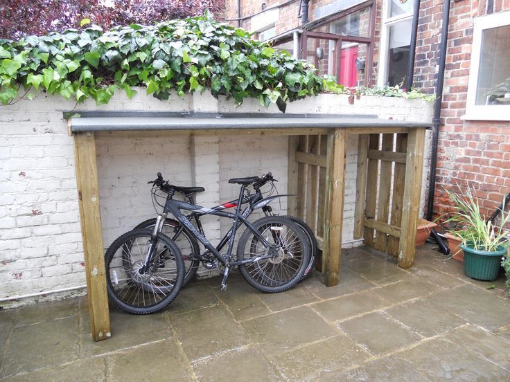outdoor bike storage solution | Garden bike storage, Bike storage .