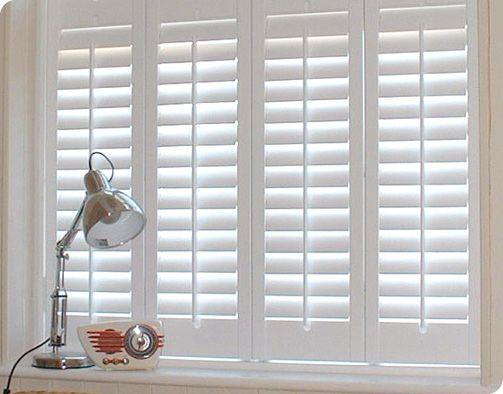 Solid Shutters | White shutters, Blinds, Wooden shutter blin