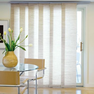 panel track blinds for the balcony door - would be smart to have .