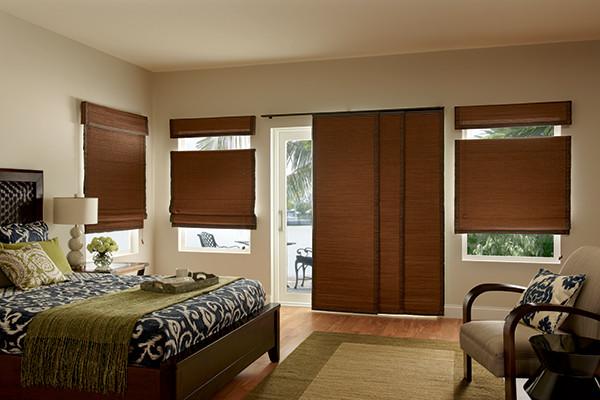 Graber WINDOW PANELS - Natural Shades SLIDING PANEL BLINDS .