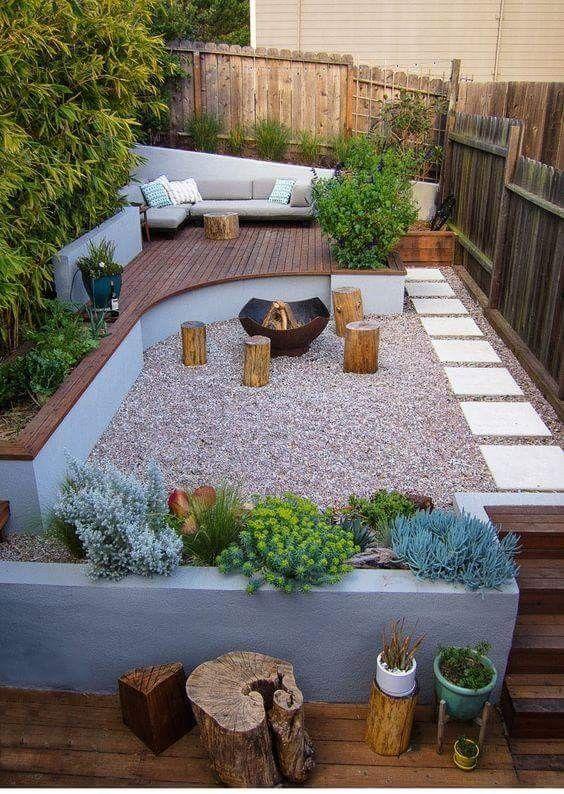 Fencing around plant base?   Small backyard decks, Backyard patio .