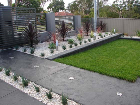 Front Yard Modern Landscaping | Small yard landscaping, Front yard .